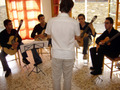 While teaching a guitar ensemble at �Doumbia� International Music Seminars (July 2005).